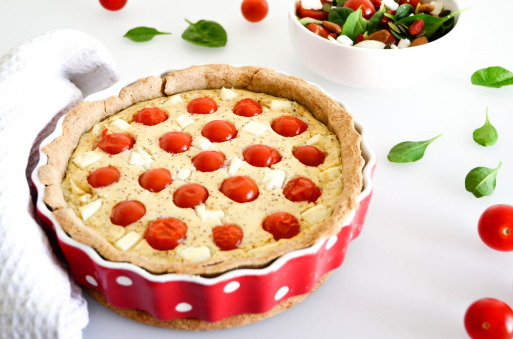photo quiche tomates feta tofu soyeux