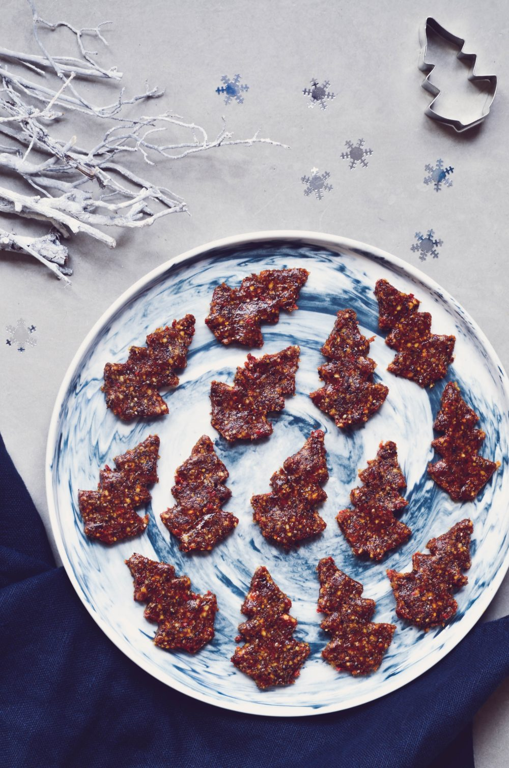 photo recette raw christmas trees